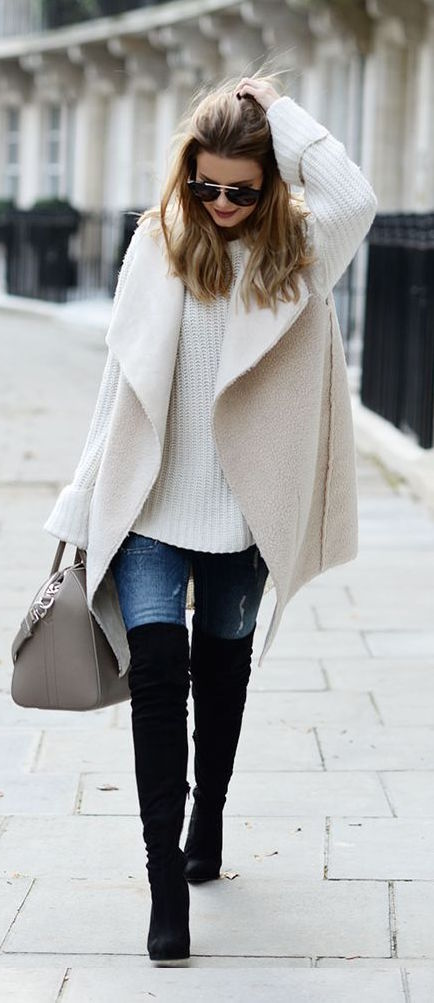 winter-fashion-white-knit-knee-length-boots